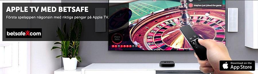 Spela Betsafe livecasino på din Apple TV