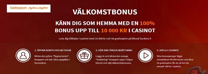 Betsson live casino med bra bonus 2017