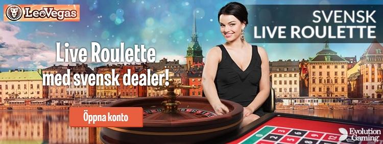 Spela Live casino utan insättning 2017