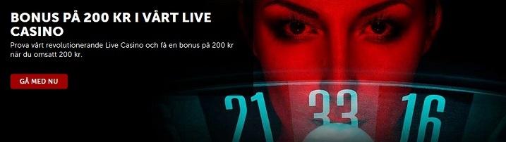 Stort live casinoutbud hos Betsafe